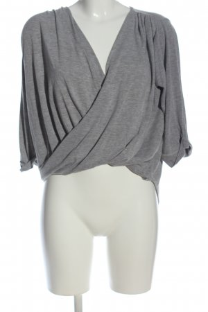 voulez vous Wraparound Shirt light grey flecked casual look
