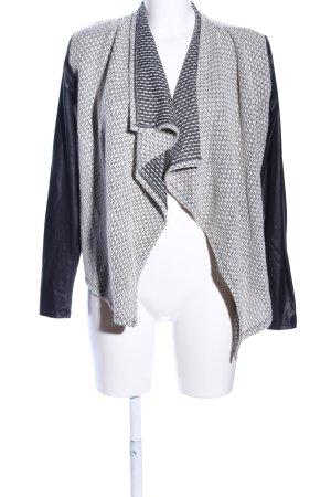 Voyelles Cardigan schwarz-weiß grafisches Muster Casual-Look