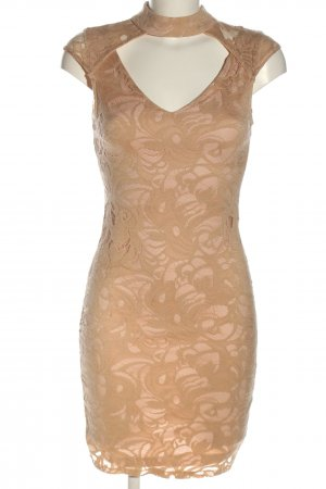 Voyelles Cut out jurk nude abstract patroon elegant