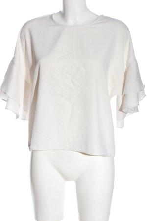 Voyelles Blusa de manga corta blanco look casual