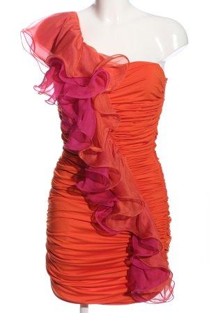 Voyelles Vestido de un hombro multicolor elegante