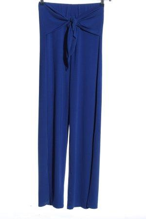 Voyelles Pantalón tipo suéter azul look casual