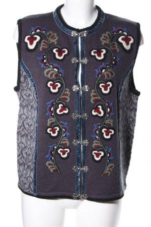 Vrikke Smanicato lavorato a maglia motivo floreale stile casual