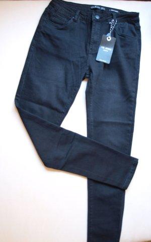 Hoge taille jeans zwart Viscose