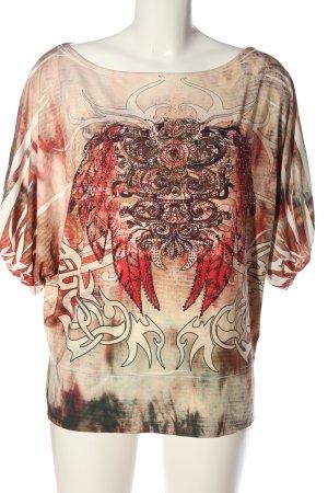 VS Oversized Shirt abstraktes Muster Casual-Look