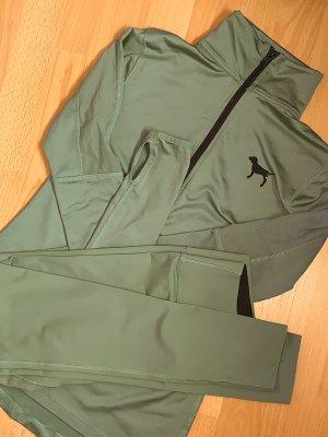 VS PINK Sport SET XS/S (Shirt + Hose) Khakigrün