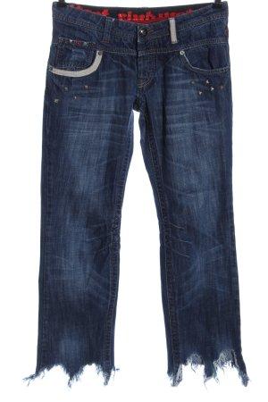 Vsct Jeans da motociclista blu Cotone