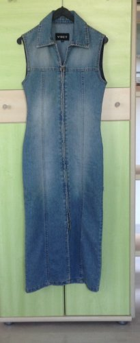 Vsct Vestido elástico azul aciano Algodón