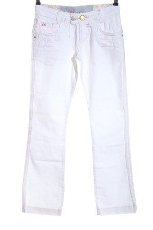 Vsct Jeans a gamba dritta bianco stile casual