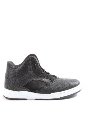 VTY High Top Sneaker schwarz abstraktes Muster Casual-Look