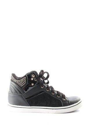 VTY High Top Sneaker schwarz Steppmuster sportlicher Stil