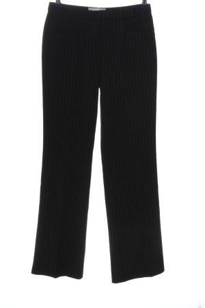 VUNIC Baggy broek zwart-wit gestreept patroon zakelijke stijl