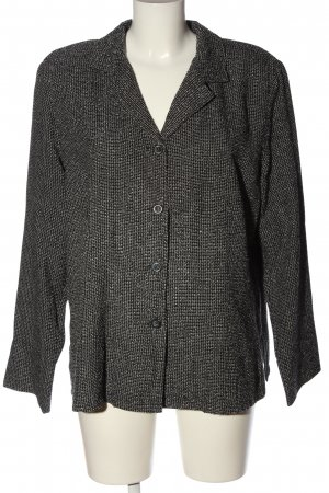 VUNIC Blazer en jersey noir-blanc moucheté style d'affaires