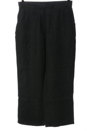 VUNIC Linnen broek zwart casual uitstraling