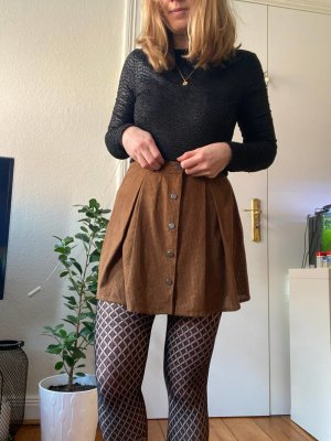 Zara Faux Leather Skirt brown