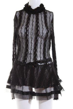 W les Femmes Blusenkleid schwarz extravaganter Stil