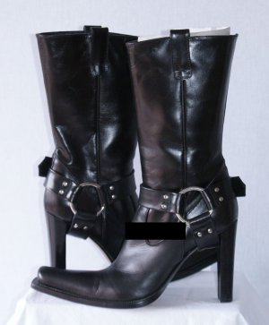 Le Silla Booties black leather