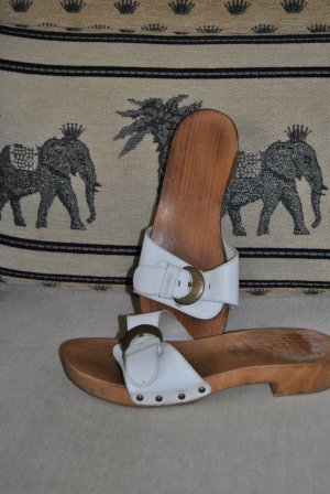 Esprit Clog Sandals white wood
