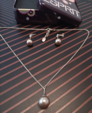 Esprit Pearl Necklace silver-colored-dusky pink