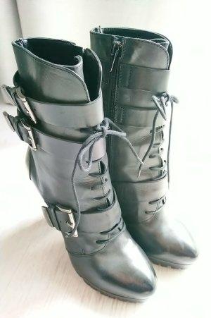 w.NEU VIC MATIÉ STIEFELETTE Biker Boots Stiefel 37 37,5 38 Luxus