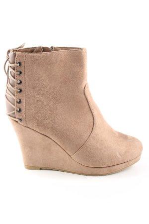 W.S shoes Keil-Stiefeletten nude Casual-Look