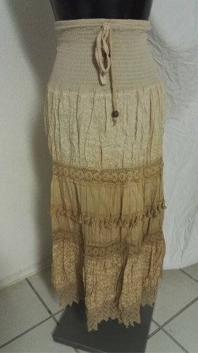 Maxi Skirt sand brown-pale yellow