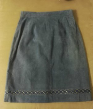 Leather Skirt azure
