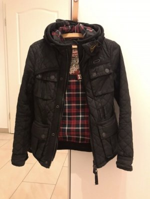 Superdry Woskowana kurtka czarny-czerwony