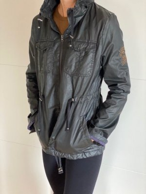 Zara Waxed Jacket dark green mixture fibre