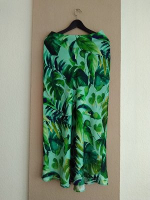 wadenlanger Rock Zara Tropischer Print, neu, Größe S