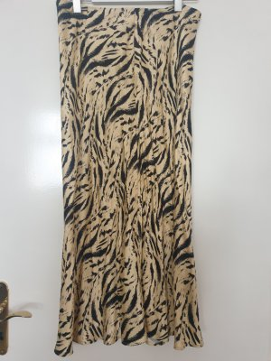 Wadenlanger Satinrock Animal Print Tiger