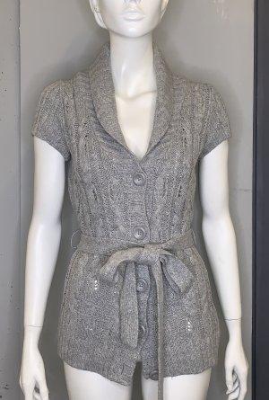 L.O.G.G. H&M Cardigan à manches courtes gris clair