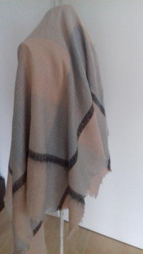 Châle au tricot multicolore laine