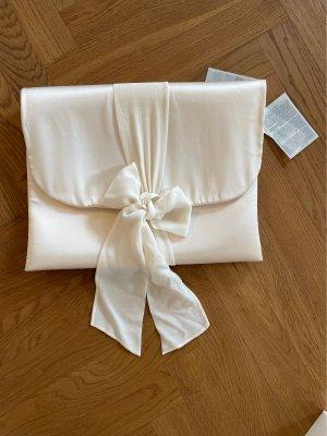 La perla Bolso para trajes blanco puro