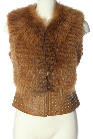 Waggon Fur vest brown casual look