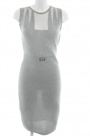 Waggon Minikleid silberfarben Elegant