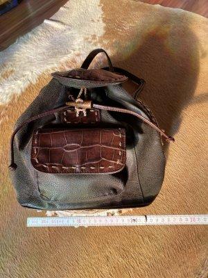 Vintage Love School Backpack multicolored leather