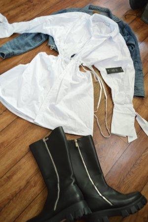 Waist Strap Detail Dropped Shoulder Dress Angelica Blick x NA-KD, weiss  36