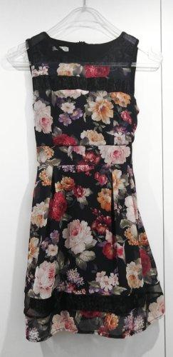 Wal G Blumen Kleid mit Meshdetails Gr. S/M