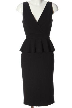 Wal G Vestito peplo nero stile casual