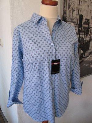 Walbusch Business Hemd Bluse hellblau Gr.42 Langarm