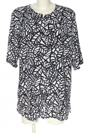 Walbusch Short Sleeved Blouse white-black allover print casual look