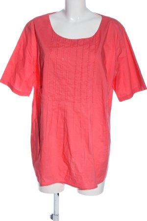 Walbusch Kurzarm-Bluse pink Casual-Look