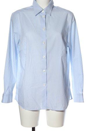 Walbusch Langarmhemd blau-weiß Streifenmuster Business-Look