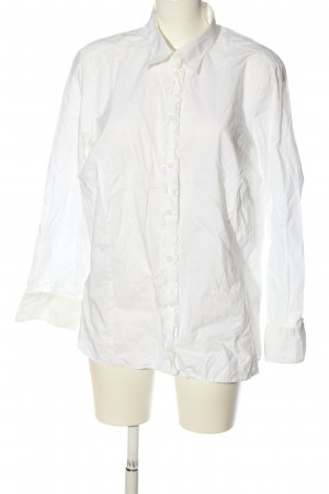 Walbusch Shirt met lange mouwen wit casual uitstraling