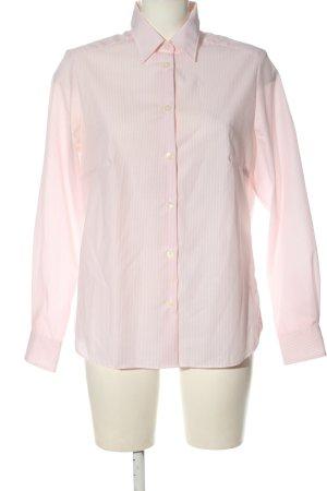 Walbusch Long Sleeve Shirt natural white-cream striped pattern elegant