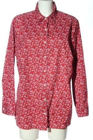Walbusch Langarmhemd Blumenmuster Casual-Look