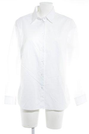 Walbusch Langarmhemd weiß klassischer Stil