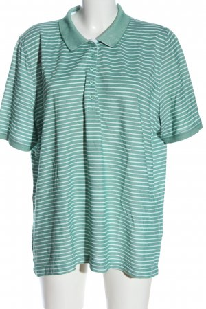 Walbusch Polo Shirt green-white striped pattern casual look
