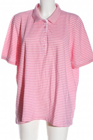 Walbusch Polo Shirt pink allover print casual look